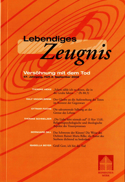 VERSÖHNUNG MIT DEM TOD - 2002 Heft 3 - 57. Jahrgang