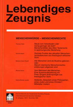 MESNCHENWÜRDE - MENSCHENRECHTE - 1998 Heft 4 - 53. Jahrgang