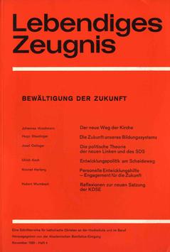 BEWÄLTIGUNG DER ZUKUNFT - 1969 Heft 4 - 24. Jahrgang