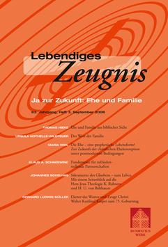 JA ZUR ZUKUNFT: EHE UND FAMILIE - 2008 Heft 3 - 63. Jahrgang