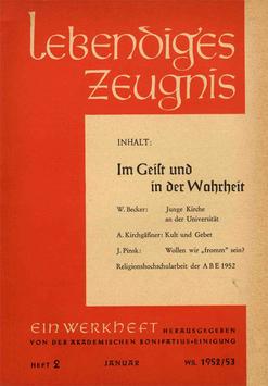 IM GEIST UND IN DER WAHRHEIT - 1953 Heft 1 - 8. Jahrgang