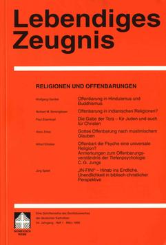 RELIGIONEN UND OFFENBARUNGEN  - 1999 Heft 1 - 54. Jahrgang