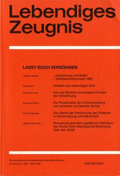 LASST EUCH VERSÖHNEN - 1984 Heft 1 - 39. Jahrgang