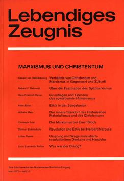 MARXISMUS UND CHRISTENTUM - 1972 Heft 1/2 - 27. Jahrgang
