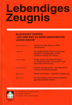 """BLICKPUNKT CARITAS: """"AUF DEM WEG ZU EINER GESCHWISTERLICHEN KIRCHE"""" - 2000 Heft 3 - 55. Jahrgang"""