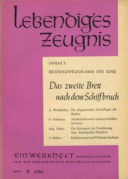DAS ZWEITE BRETT NACH DEM SCHIFFBRUCH - 1950 Heft 2 - 5. Jahrgang