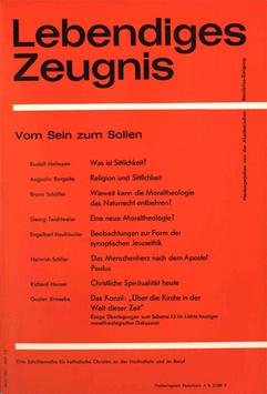 VOM SEIN ZUM SOLLEN - 1965 Heft 1/2 - 20. Jahrgang