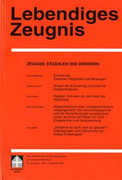 ZEUGNIS: ERZÄHLEN UND ERINNERN  - 2001 Heft 4 - 56. Jahrgang
