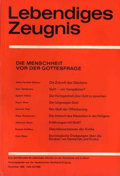DIE MENSCHHEIT VOR DER GOTTESFRAGE - 1968 Heft 3/4 - 23. Jahrgang