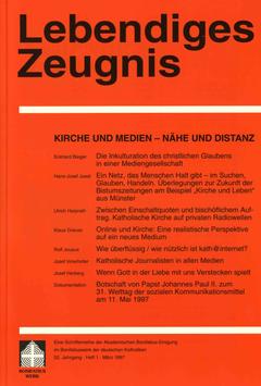 KIRCHE UND MEDIEN - NÄHE UND DISTANZ  - 1997 Heft 1 - 52: Jahrgang