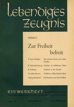 ZUR FREIHEIT BEFREIT - 1953 Heft 4 - 8. Jahrgang