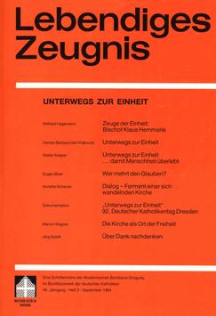 UNTERWEGS ZUR EINHEIT  - 1994 Heft 3 - 49. Jahrgang