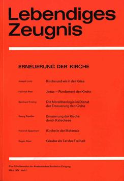 ERNEUERUNG DER KIRCHE - 1974 Heft 1 - 29. Jahrgang