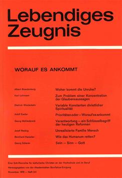 WORAUF ES ANKOMMT - 1970 Heft 3/4 - 25. Jahrgang
