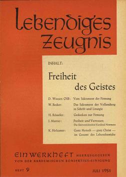 FREIHEIT DES GEISTES - 1951 Heft 3 - 6. Jahrgang