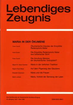 MARIA IN DER ÖKUMENE - 1988 Heft 1 - 43. Jahrgang