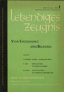 VON ERZIEHUNG UND BILDUNG - 1960 Heft 1 - 15. Jahrgang