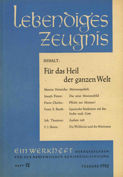 FÜR DAS HEIL DER GANZEN WELT - 1952 Heft 1 - 7. Jahrgang