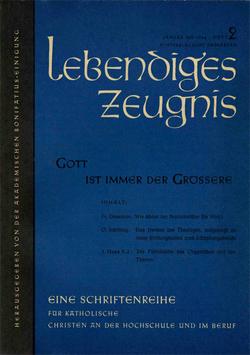 GOTT IST IMMER DER GRÖSSERE - 1958 Heft 1 - 13. Jahrgang