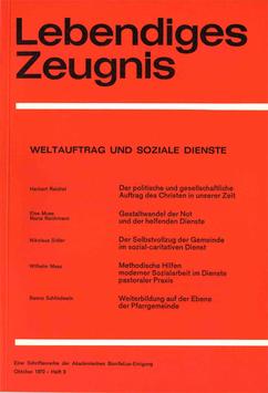WELTAUFTRAG UND SOZIALE DIENSTE - 1972 Heft 3 - 27. Jahrgang
