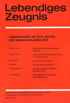 LEBENSFRAGEN IM VOLK GOTTES DER NACHKONZILIAREN ZEIT - 1969 Heft 1 - 24. Jahrgang