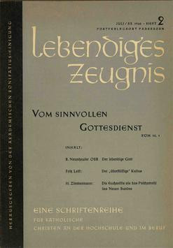 VOM SINNVOLLEN GOTTESDIENST - 1960 Heft 2 - 15. Jahrgang