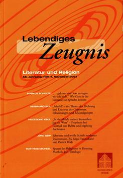 LITERATUR UND RELIGION  - 2003 Heft 4 - 58. Jahrgang