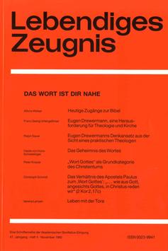 DAS WORT IST DIR NAHE  - 1992 Heft 4 - 47. Jahrgang
