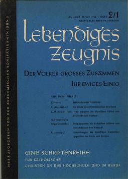 DER VÖLKER GROSSES ZUSAMMEN — IHR EWIGES EINIG - 1958 Heft 3 - 13. Jahrgang