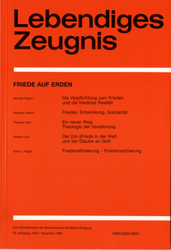 FRIEDE AUF ERDEN  - 1988 Heft 4 - 43. Jahrgang