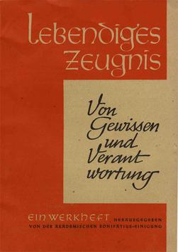 VON GEWISSEN UND VERANTWORTUNG - 1949 Heft 1 - 4. Jahrgang