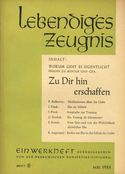 ZU DIR HIN ERSCHAFFEN - 1951 Heft 2 - 6. Jahrgang