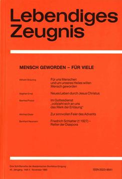 MENSCH GEWORDEN - FÜR VIELE  - 1990 Heft 4 - 45. Jahrgang