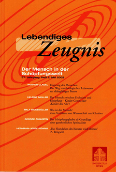 DER MENSCH IN DER SCHÖPFUNGSWELT - Heft 2 - 57. Jahrgang
