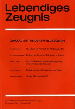 DIALOG MIT ANDEREN RELIGIONEN - 1977 Heft 4 - 32. Jahrgang