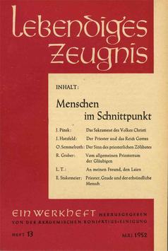 MENSCHEN IM SCHNITTPUNKT - 1952 Heft 2 - 7. Jahrgang