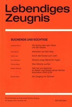 SUCHENDE UND SÜCHTIGE  - 1991 Heft 4 - 46. Jahrgang