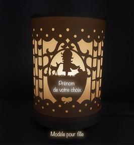 Lampe personalisée - Modèle fille