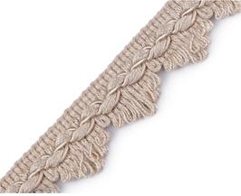 Polsterborte aus Italien für den klassischen Handwerk, natur, 22 mm, 1 Meter