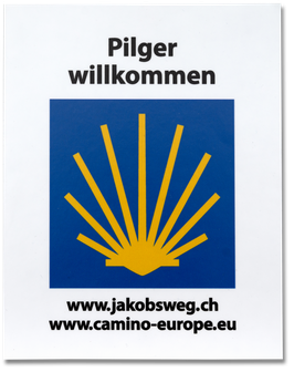 Kleber «Pilger willkommen»