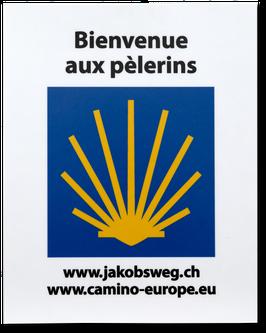 Kleber «Bienvenue aux pélerins»