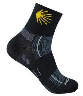 Socken Jakobsweg, schwarz, niedrig