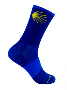 Socken Jakobsweg, blau, hoch