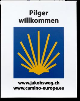 ALU-SCHILD «PILGER WILLKOMMEN»
