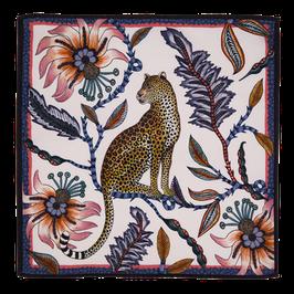Serviette Leopard Rosé-Blue