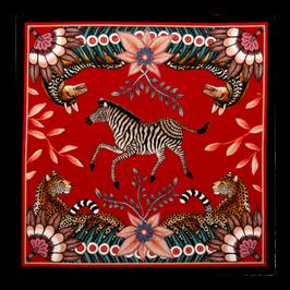 """Serviette Zebra """"Busch Bandit"""" Bordeaux"""