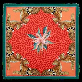 Serviette Leopard Lily coral