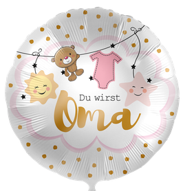 Folienballon Baby: Du wirst Oma