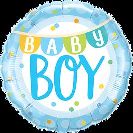 Folienballon Baby Boy Banner