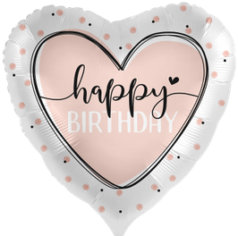 Ballon Geburtstag: 70257K Glossy Heart Happy Birthday